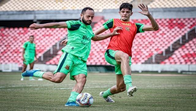 Chapecoense-SC x Sampaio Corrêa: Tricolor acerta pontaria em treinamento no Castelão